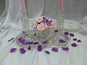 Glass table centres